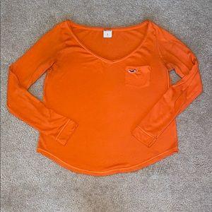 Hollister Longsleeve Orange Top